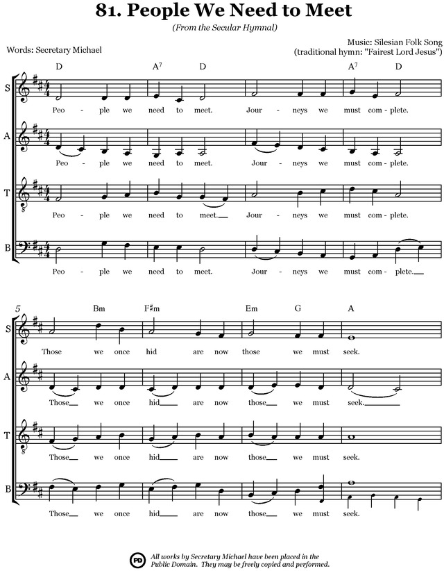 Secular Hymnal: 144 hymn tunes made inclusive for all page 163