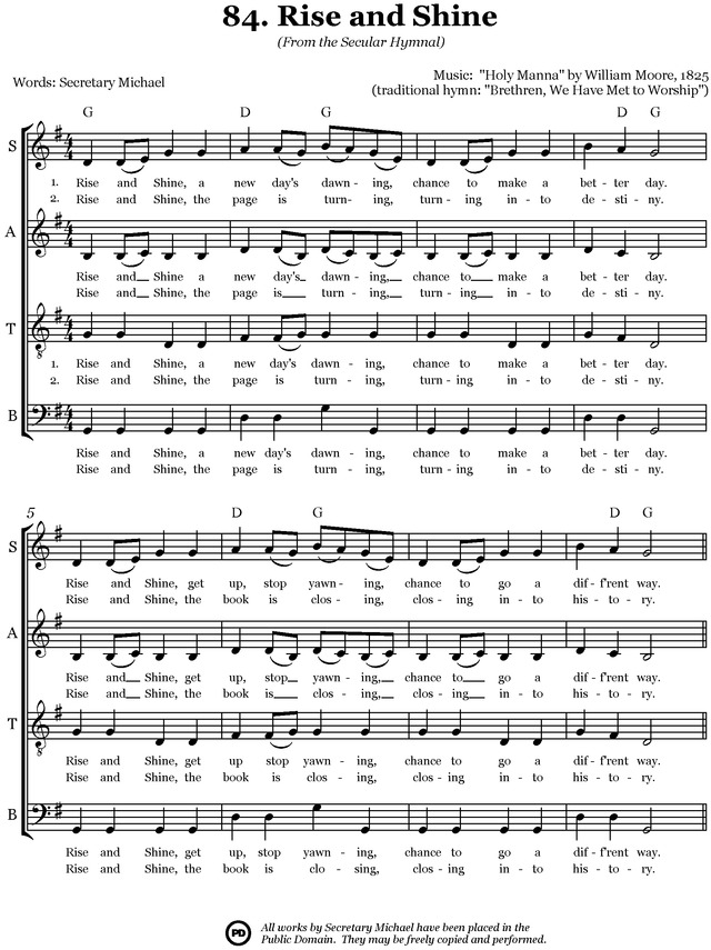 Secular Hymnal: 144 hymn tunes made inclusive for all page 169