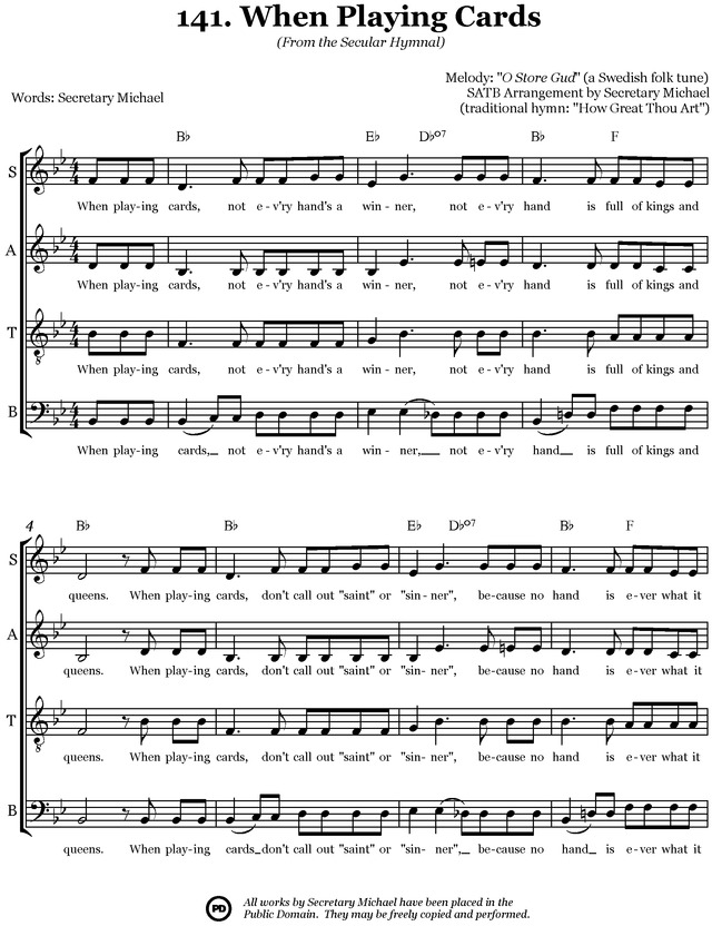Secular Hymnal: 144 hymn tunes made inclusive for all page 283