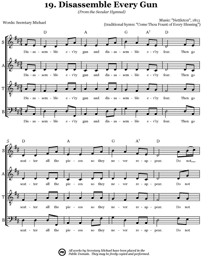 Secular Hymnal: 144 hymn tunes made inclusive for all page 39