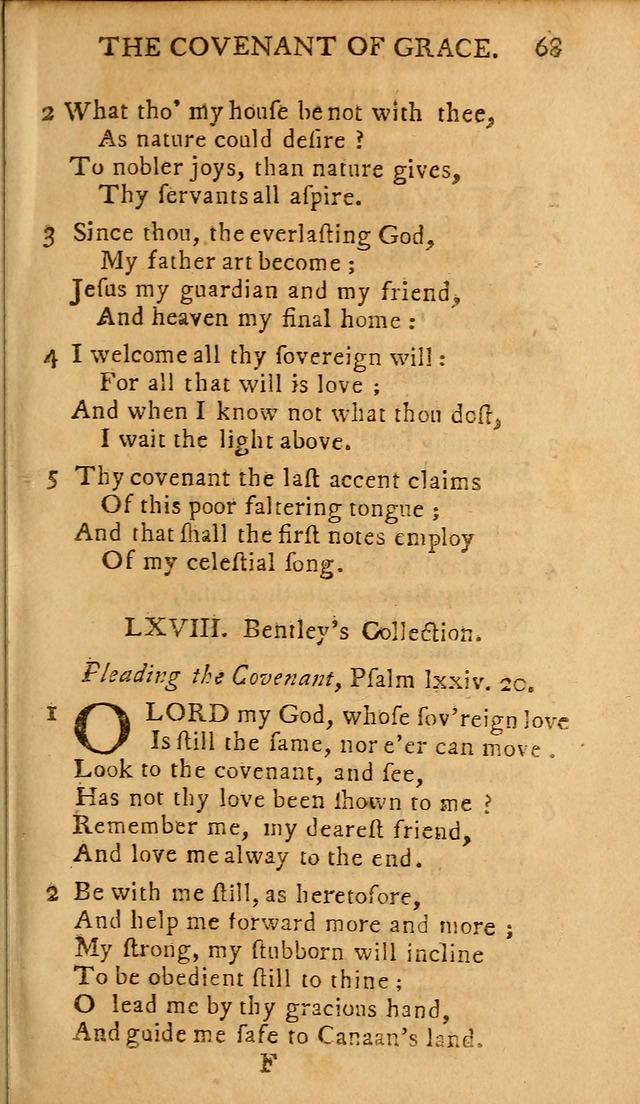 A Selection of Hymns from the Best Authors, intended to be an Appendix to  Dr. Watts