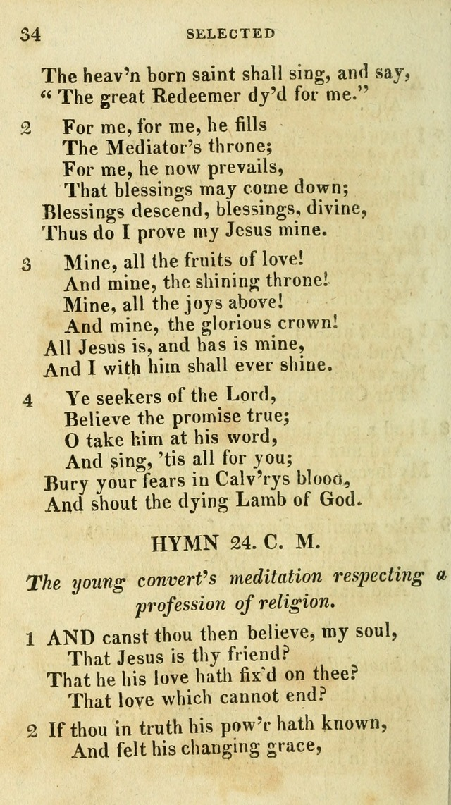 A Selection of Hymns, from the Best Authors page 38