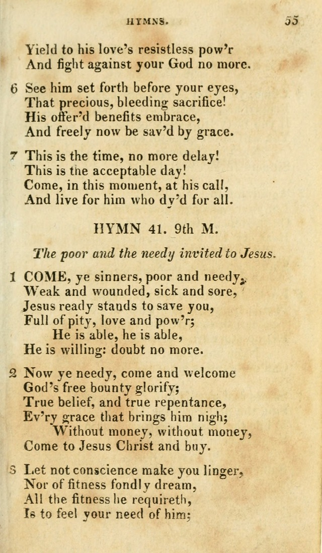 A Selection of Hymns, from the Best Authors page 59