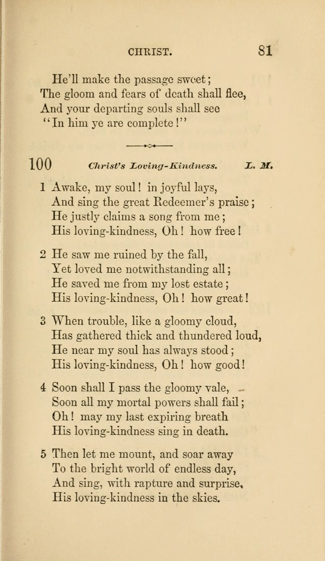 Social Hymn Book: Being the Hymns of the Social Hymn and Tune Book for the Lecture Room, Prayer Meeting, Family, and Congregation (2nd ed.) page 81
