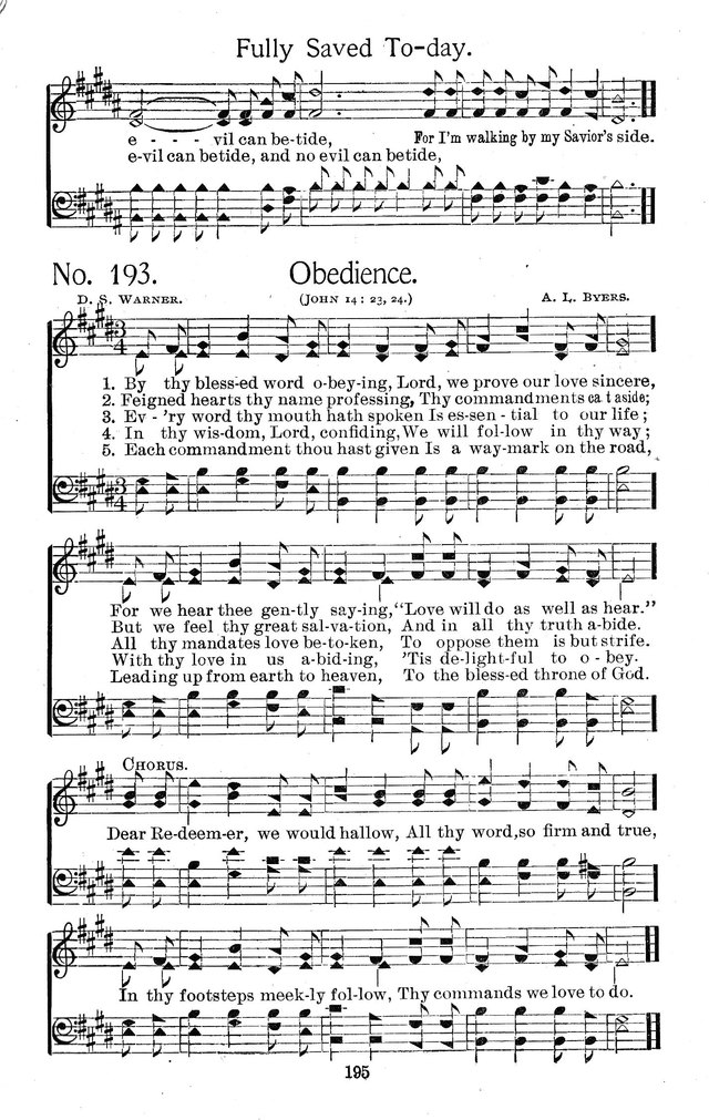 Select Hymns: for Christian worship and general gospel service page 195