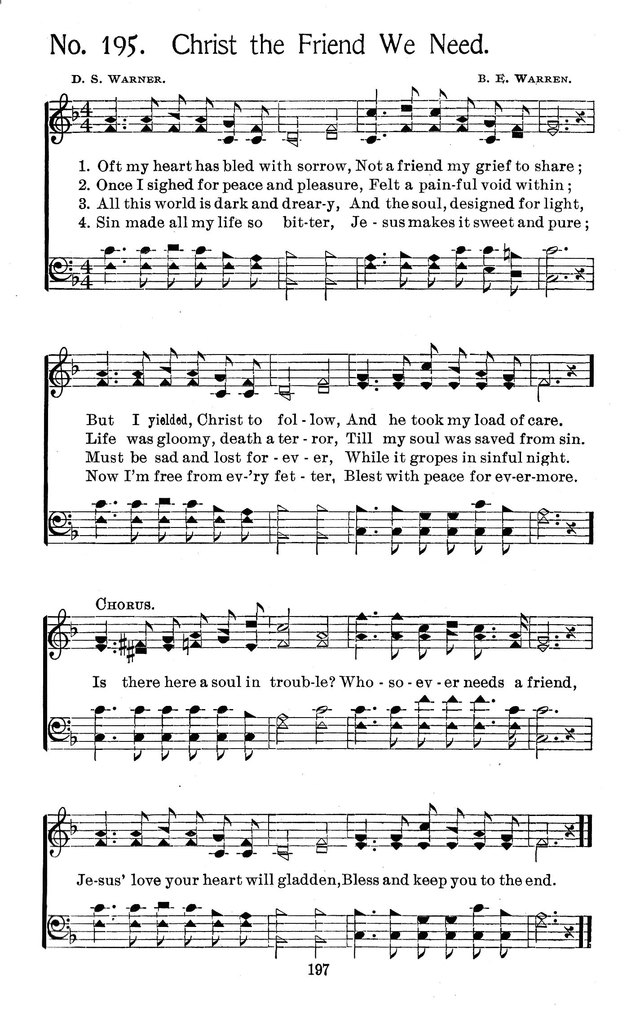 Select Hymns: for Christian worship and general gospel service page 197