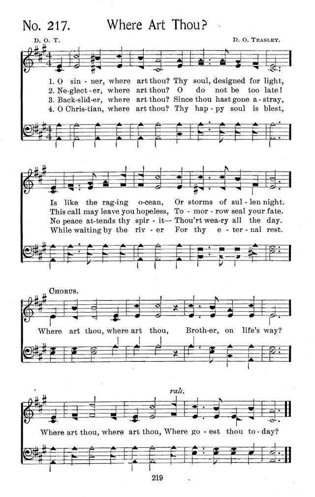 Select Hymns: for Christian worship and general gospel service page 219