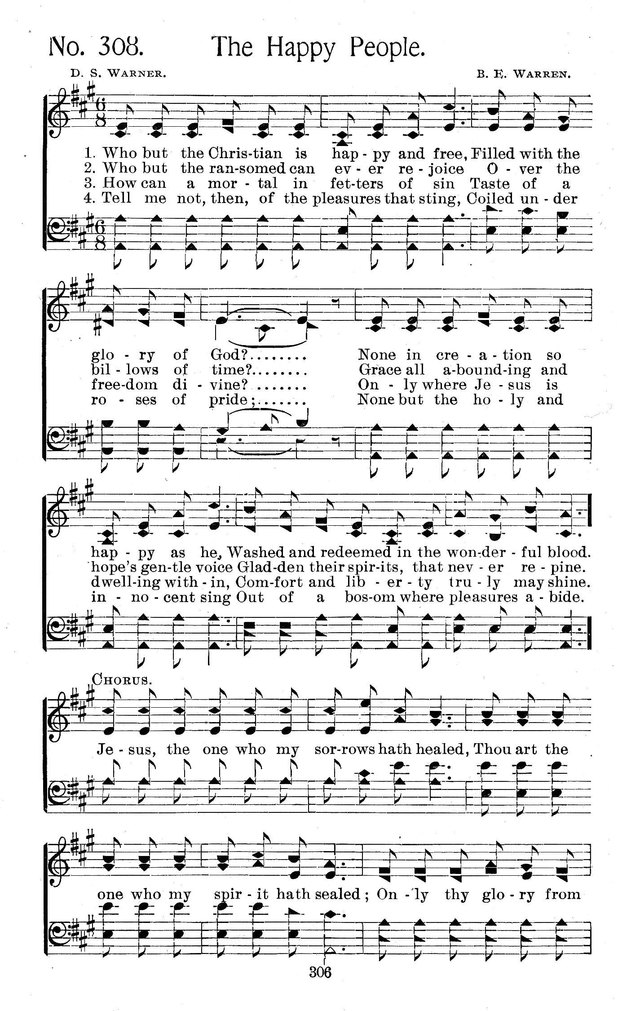Select Hymns: for Christian worship and general gospel service page 306