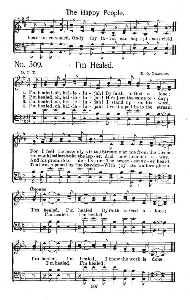 Select Hymns: for Christian worship and general gospel service page 307