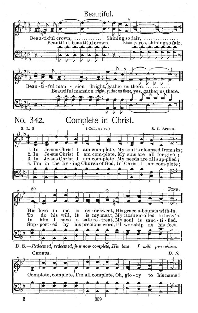 Select Hymns: for Christian worship and general gospel service page 339