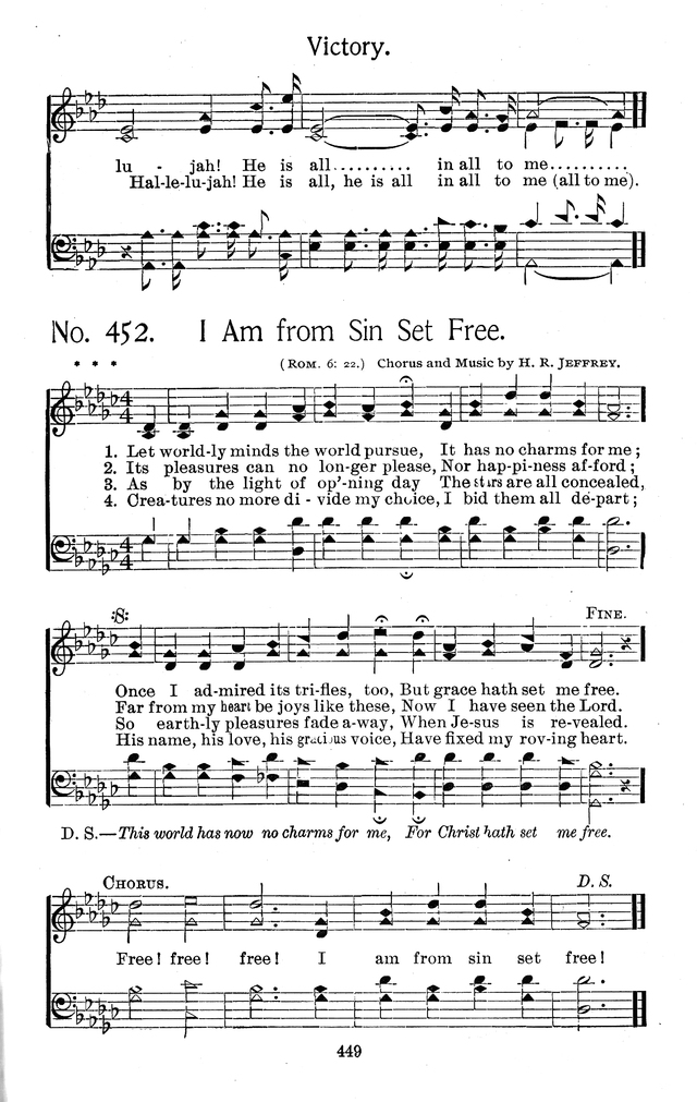 Select Hymns: for Christian worship and general gospel service page 449