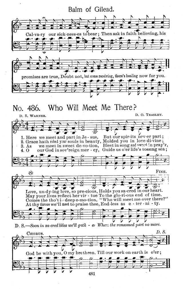 Select Hymns: for Christian worship and general gospel service page 481