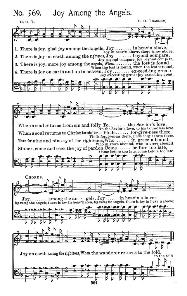 Select Hymns: for Christian worship and general gospel service page 564