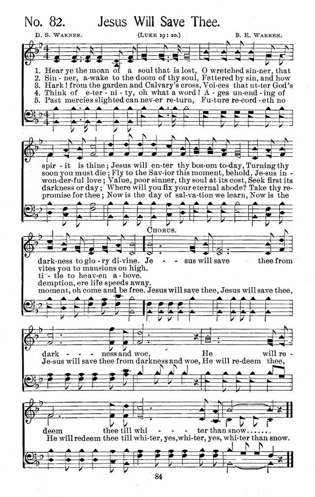 Select Hymns: for Christian worship and general gospel service page 84