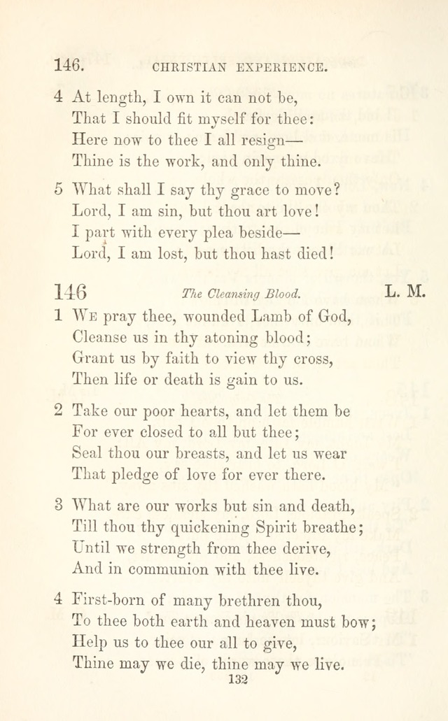 "A Selection of Hymns: designed as a supplement to the ""psalms and hymns"" of the Presbyterian church page 134"
