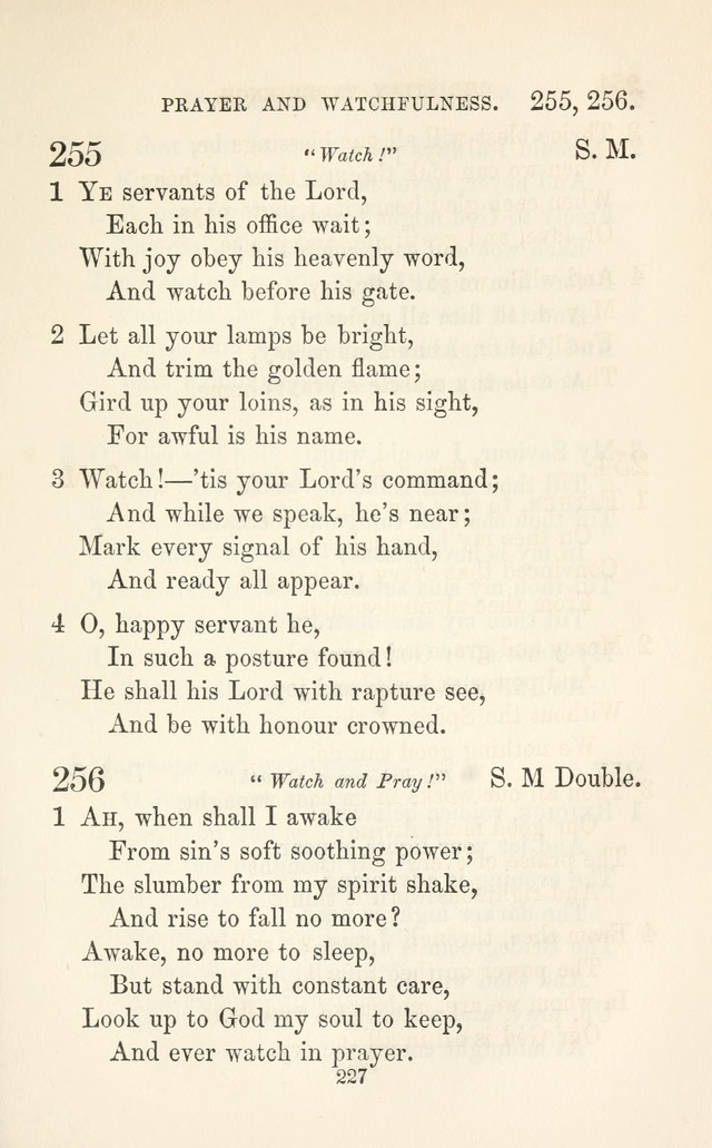"A Selection of Hymns: designed as a supplement to the ""psalms and hymns"" of the Presbyterian church page 229"
