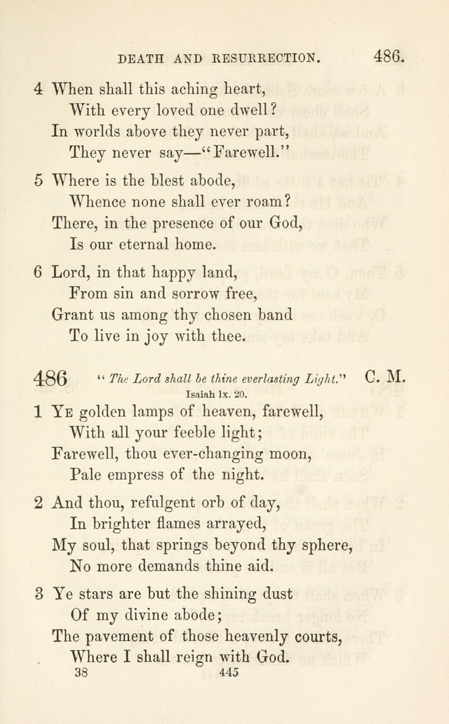 "A Selection of Hymns: designed as a supplement to the ""psalms and hymns"" of the Presbyterian church page 447"