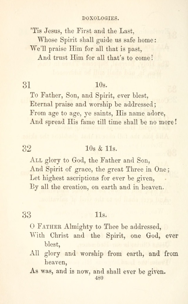 "A Selection of Hymns: designed as a supplement to the ""psalms and hymns"" of the Presbyterian church page 482"