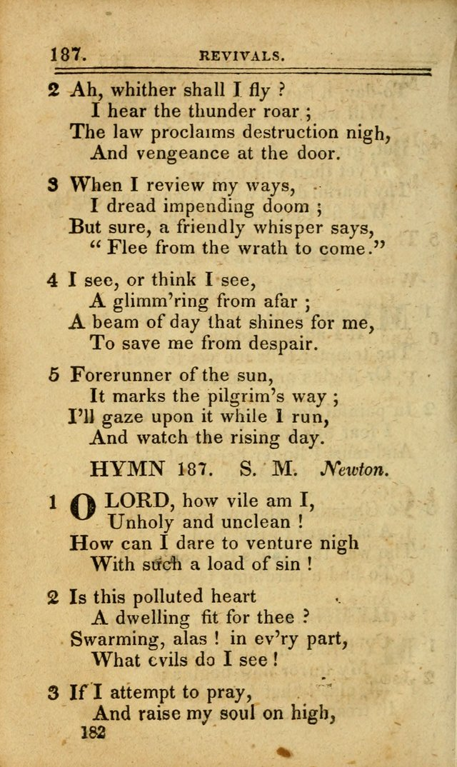 A Selection of Hymns: including a few originals, designed to aid the friends of  Zion in their private and social worship page 182