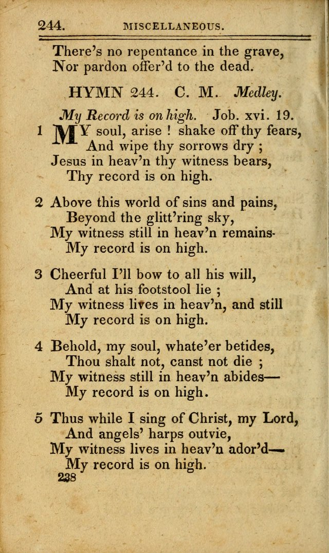 A Selection of Hymns: including a few originals, designed to aid the friends of  Zion in their private and social worship page 238