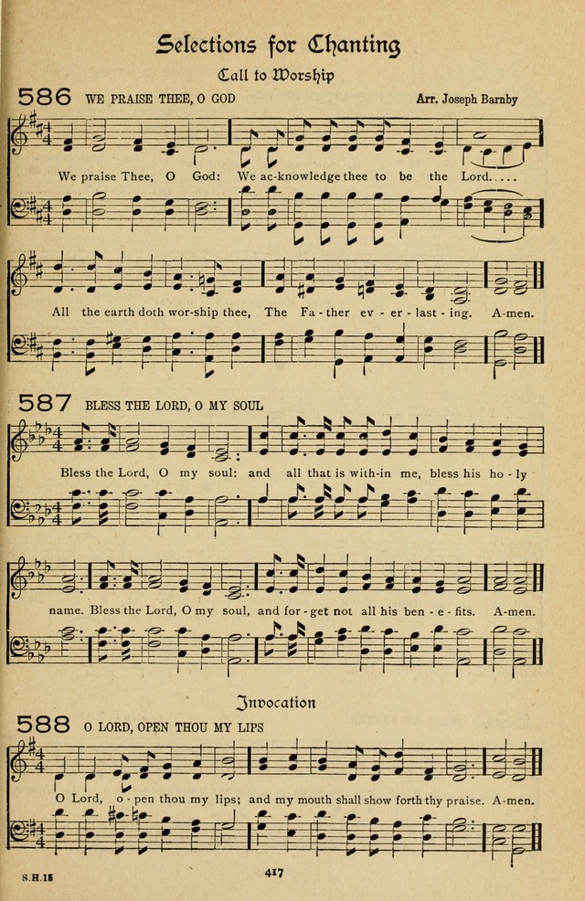 The Sanctuary Hymnal, published by Order of the General Conference of the United Brethren in Christ page 418