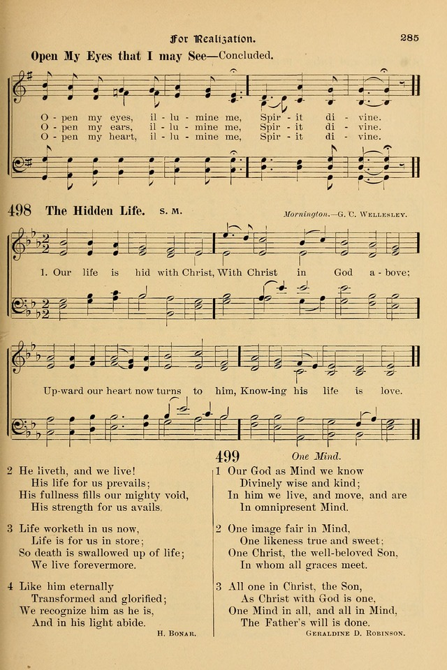 Song-Hymnal of Praise and Joy, a selection of spiritual songs, old and new page 284