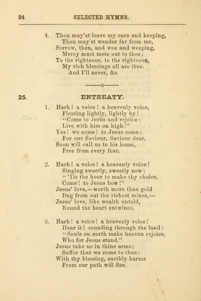 A Selection of Hymns: printed only for the use of the sabbath school of the Tenth Presbyterian Church, of Philadelphia page 31