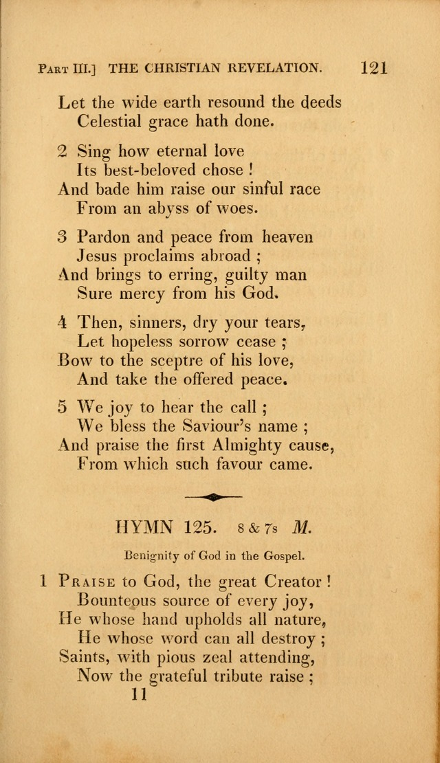 A Selection of Hymns and Psalms: for social and private worship (3rd ed. corr.) page 121