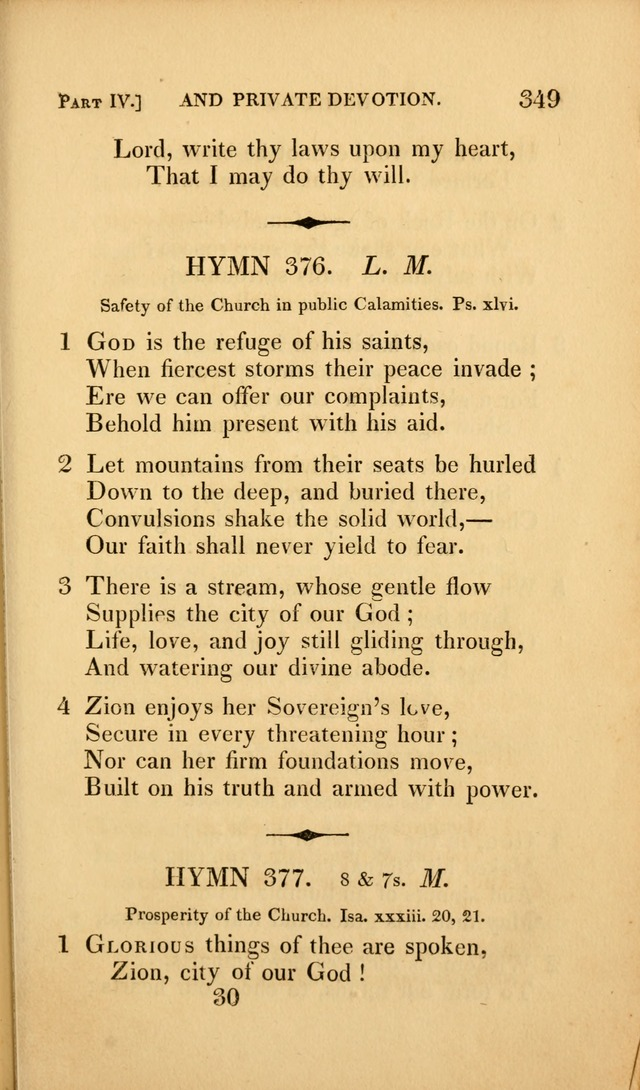 A Selection of Hymns and Psalms: for social and private worship (3rd ed. corr.) page 361