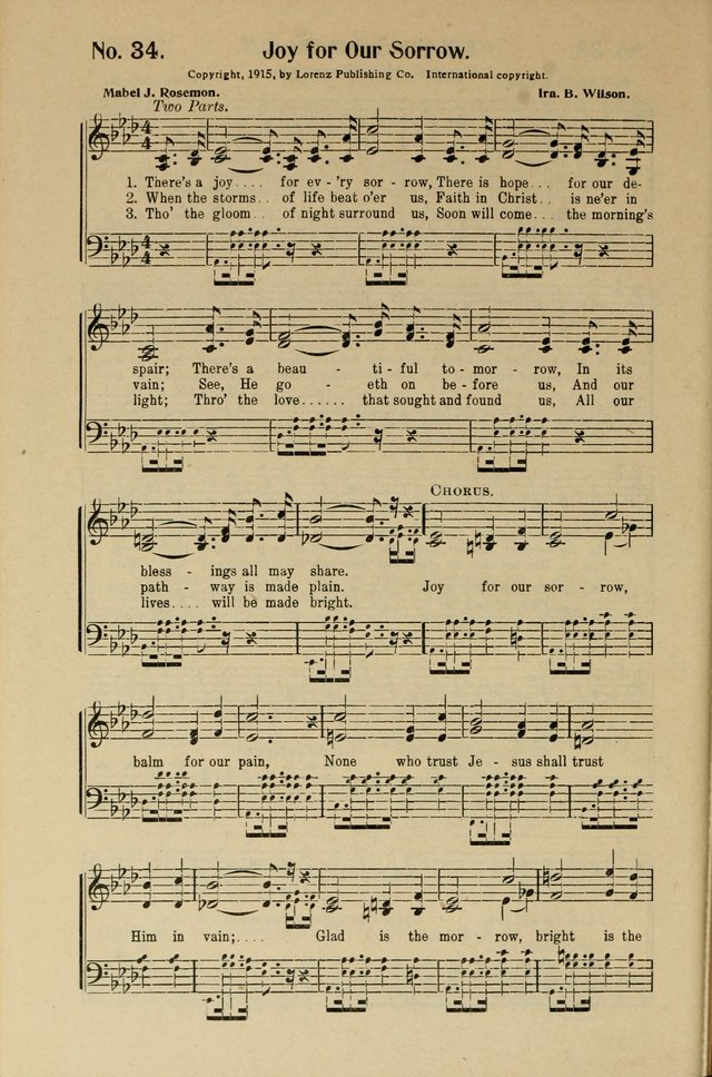 Songs of Help: for the Sunday school, evangelistic and church services page 34
