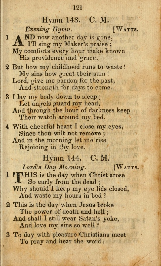 Selection of Hymns for the Sunday School Union of the Methodist Episcopal Church page 121