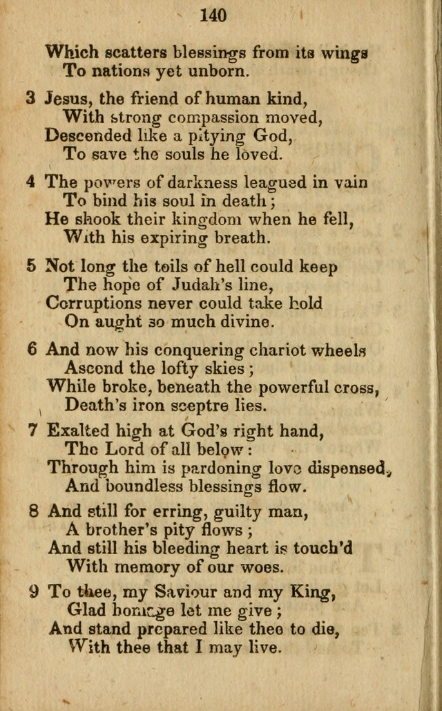 Selection of Hymns for the Sunday School Union of the Methodist Episcopal Church page 140