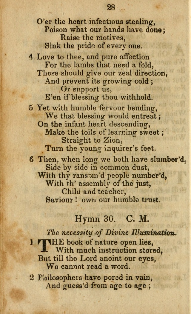 Selection of Hymns for the Sunday School Union of the Methodist Episcopal Church page 28