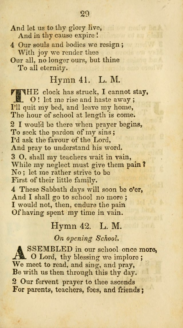 Selection of Hymns for the Sunday School Union of the Methodist Episcopal Church page 29