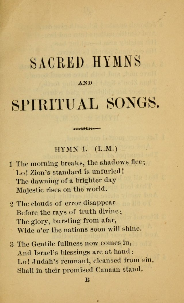 Sacred Hymns and Spiritual Songs, for the Church of Jesus Christ of Latter-Day Saints. (14th ed.) page 8