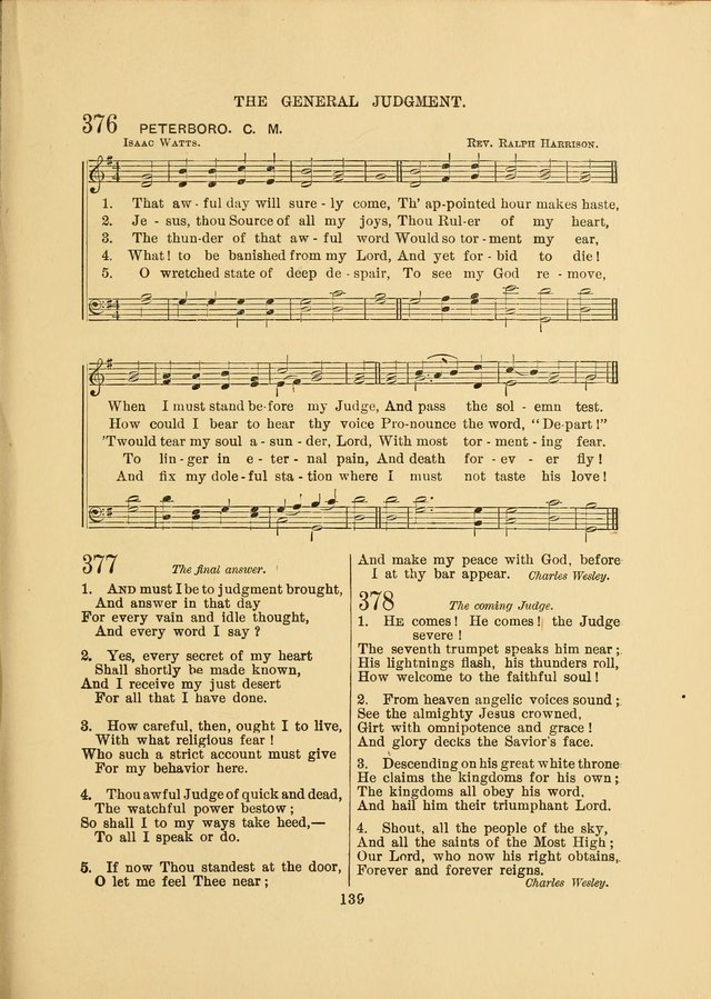 Sacred Hymns and Tunes: designed to be used by the Wesleyan Methodist Connection (or Church) of America page 139