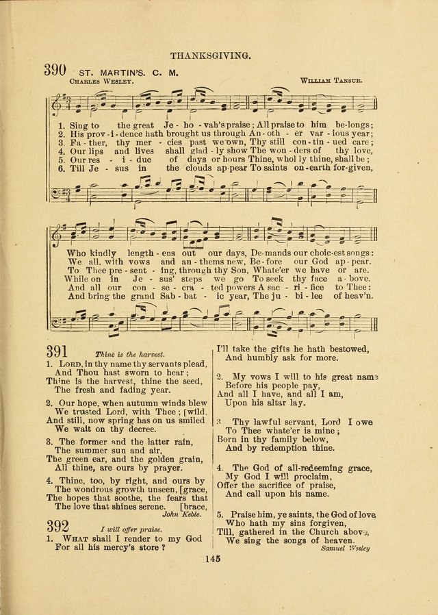 Sacred Hymns and Tunes: designed to be used by the Wesleyan Methodist Connection (or Church) of America page 145