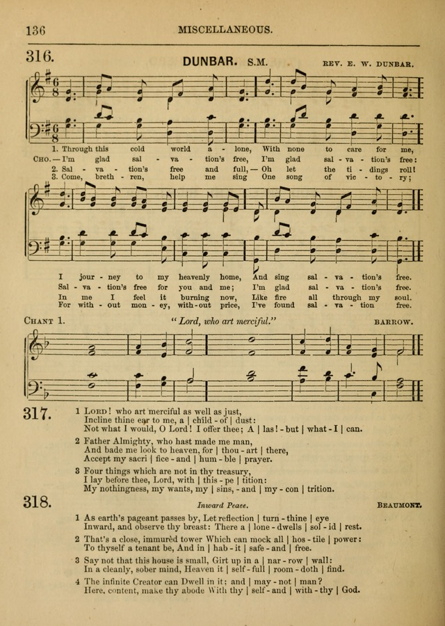 Social Hymns and Tunes, for the Conference and Prayer Meeting, and the Home with services and prayers page 132