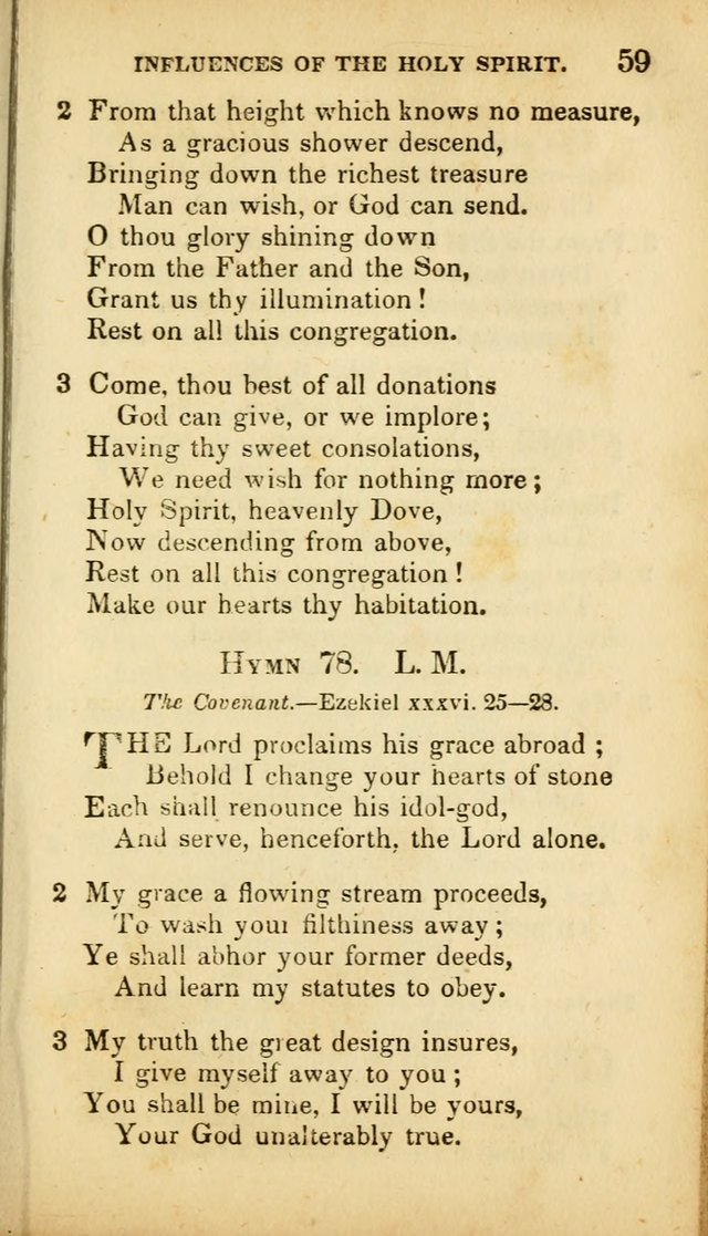A Selection of Hymns for the Use of Social Religious Meetings and for Private Devotions. 7th ed. page 59