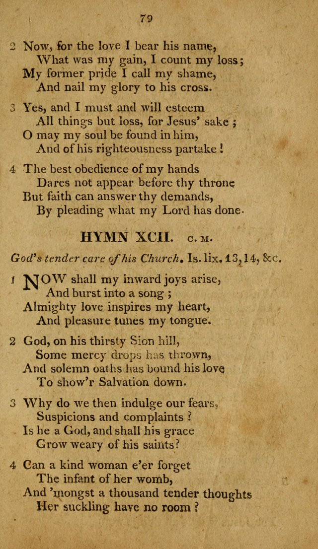 A Selection of Hymns, from Various Authors, Supplementary for the Use of Christians. 1st ed. page 84
