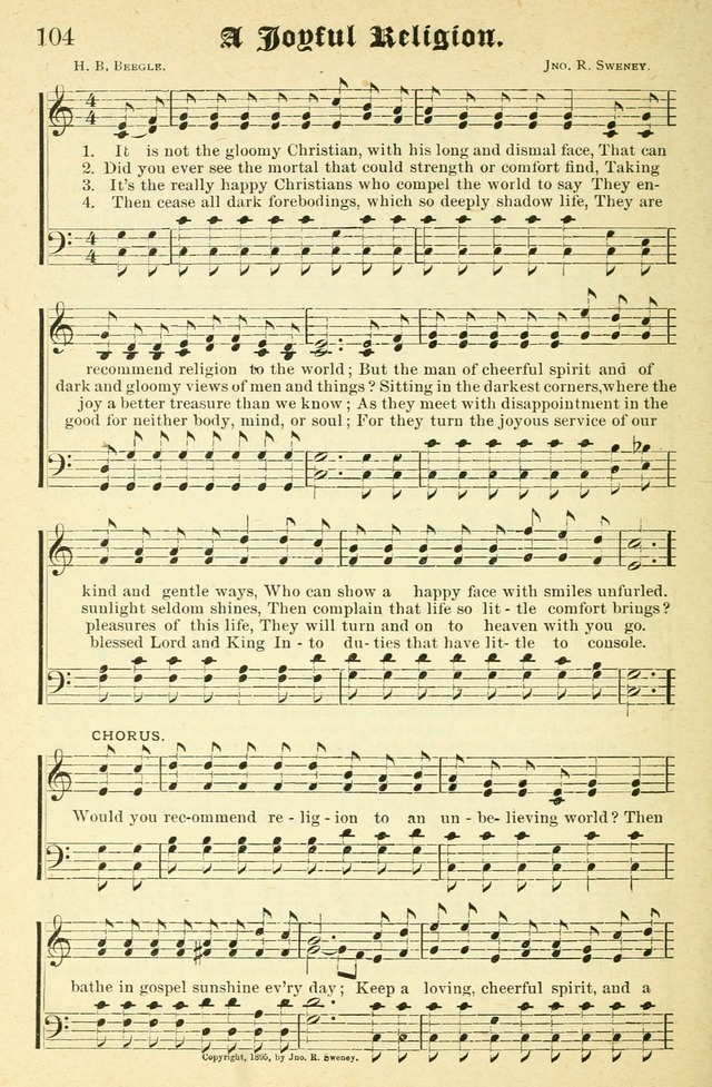 Songs of Love and Praise No. 2 for use in meetings for christian worship or work page 105