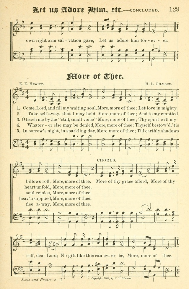Songs of Love and Praise No. 2 for use in meetings for christian worship or work page 130