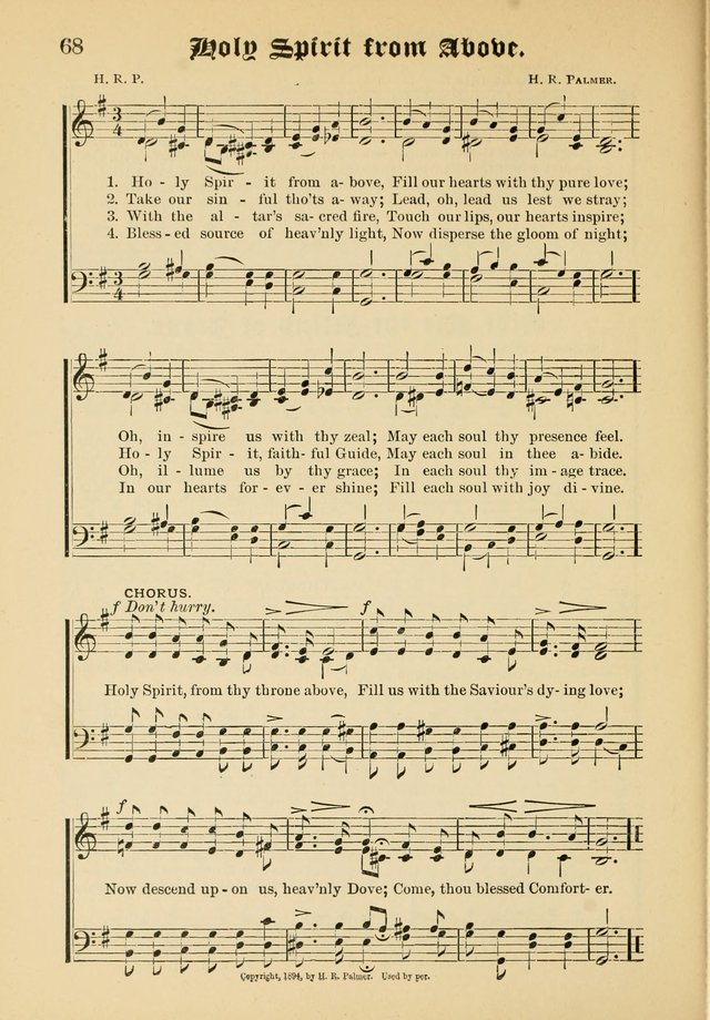 Songs of Love and Praise No. 5: for use in meetings for Christian worship or work page 58