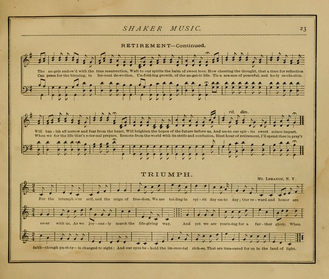 Shaker Music: Inspirational hymns and melodies illustrative of the resurrection life and testimoy of the shakers page 30