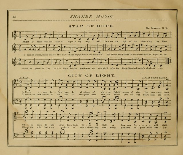 Shaker Music: Inspirational hymns and melodies illustrative of the resurrection life and testimoy of the shakers page 33