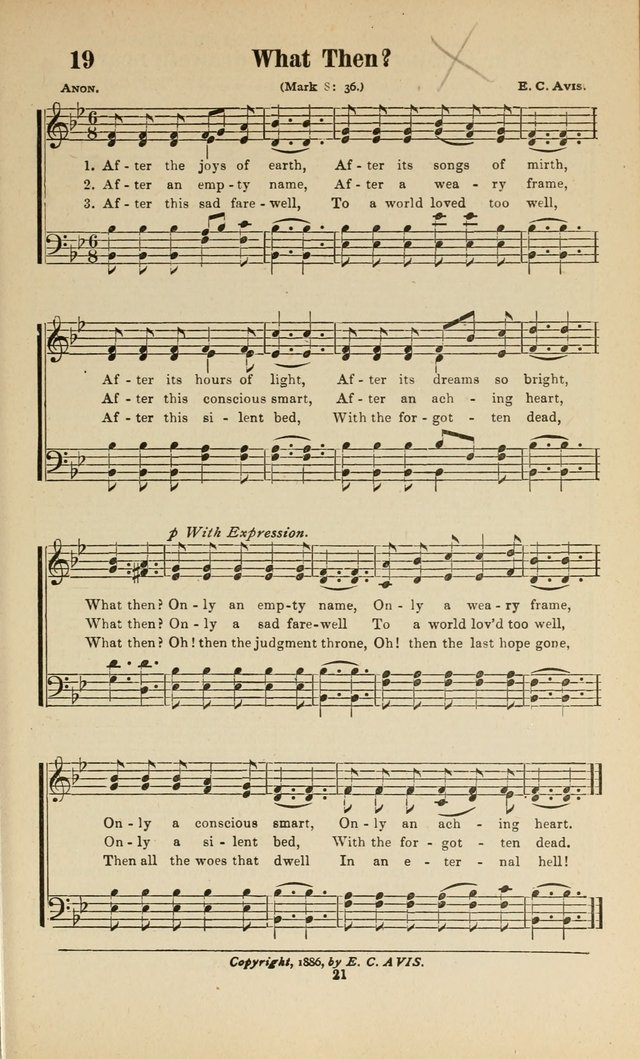 Sacred Melodies: Nos.1 and 2 combined (As used by Evangelist H. W. Brown and others, in Gospel Meetings and other religious services)  page 21