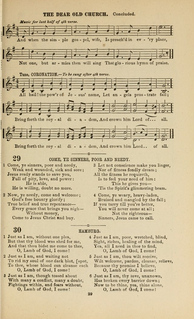 Sacred Melodies: Nos.1 and 2 combined (As used by Evangelist H. W. Brown and others, in Gospel Meetings and other religious services)  page 29