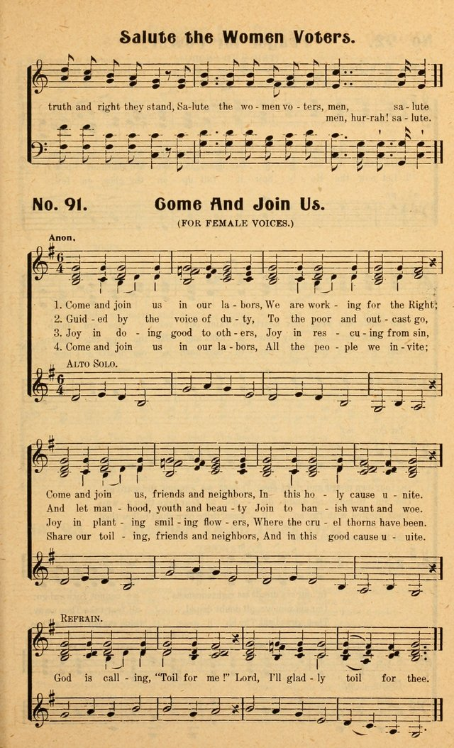 Songs of the New Crusade: a collection of stirring twentieth century temperance songs page 91