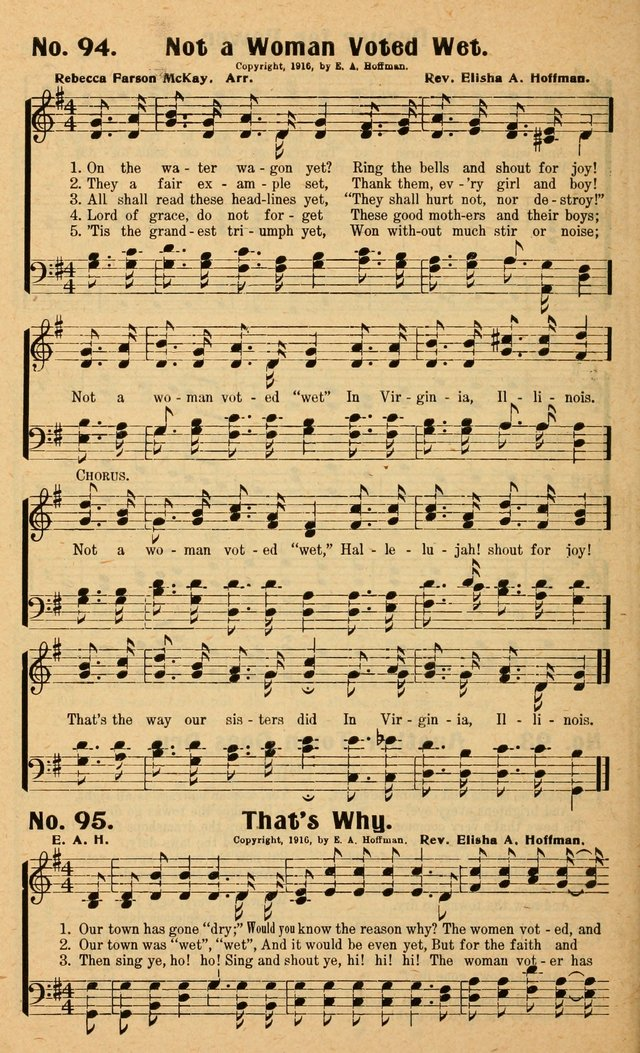 Songs of the New Crusade: a collection of stirring twentieth century temperance songs page 94