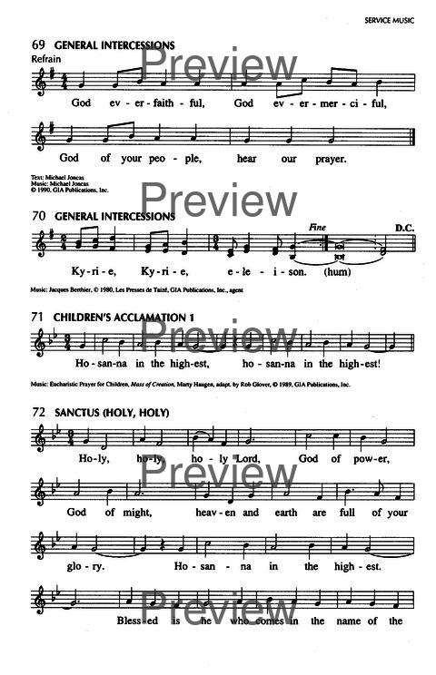 Singing Our Faith: a hymnal for young Catholics page 20
